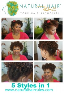 5 Natural Hair Styles in 1