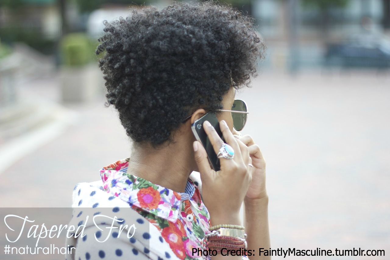 Natural Hairstyle Tapered Fro Natural Hair Rules