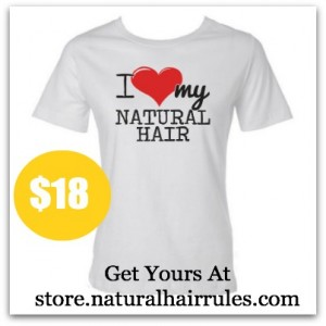 I Heart My Natural Hair T-Shirts (tees)