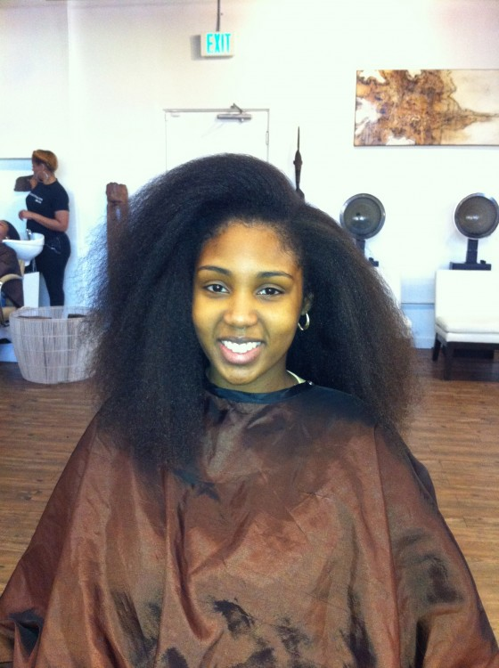 Blow Drying Dry Natural Hair