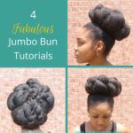 4 Fabulous Jumbo Bun Tutorials